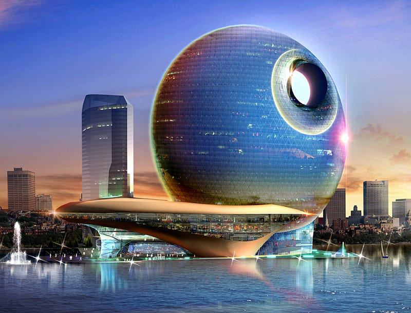 Illustration for article titled Death Star Hotel in Azerbaijan Is No Moon