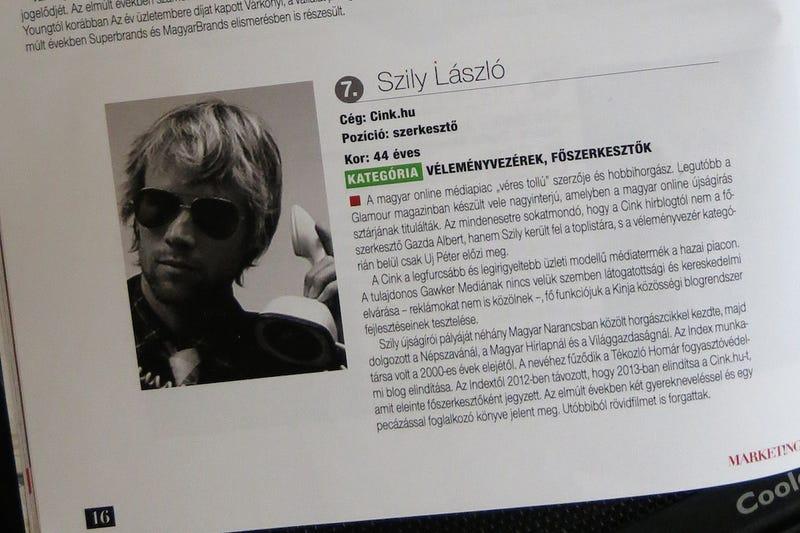 Illustration for article titled Kis híján elhallgattuk, hogy Szily László a 7. legmenőbb digitális ember