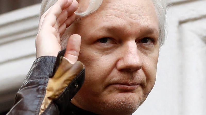 Julian Assange's official Twitter account not appearing