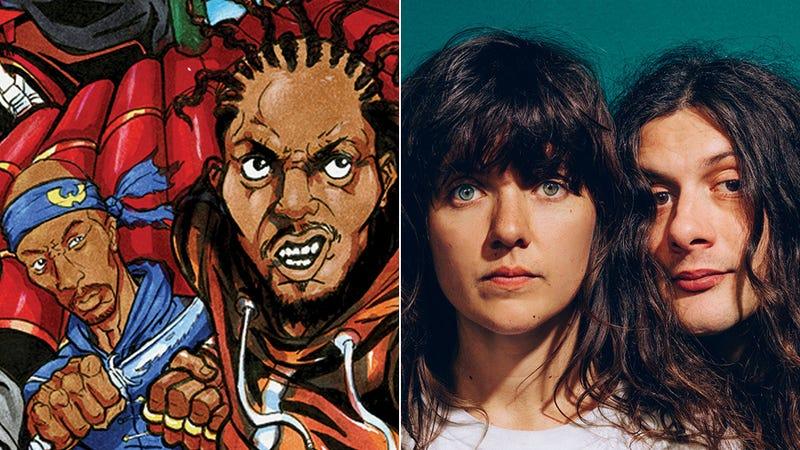 The Saga Continues cover art detail; Courtney Barnett and Kurt Vile (Photo: Danny Cohen)