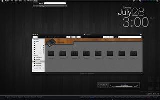 Illustration for article titled The Black Mac Desktop