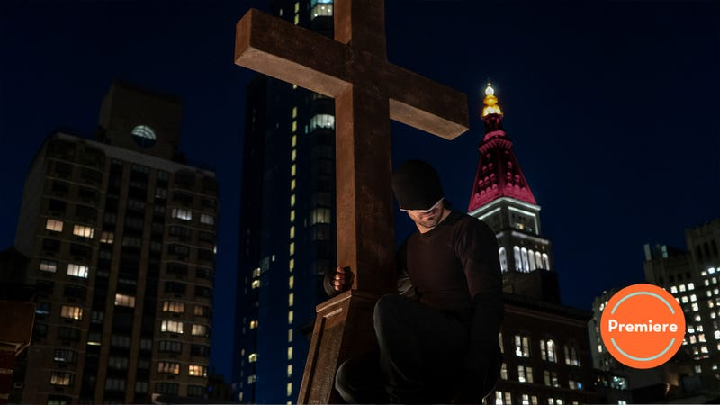 Illustration for article titled Daredevil's stripped-down third season premiere tackles cataclysms and catechisms