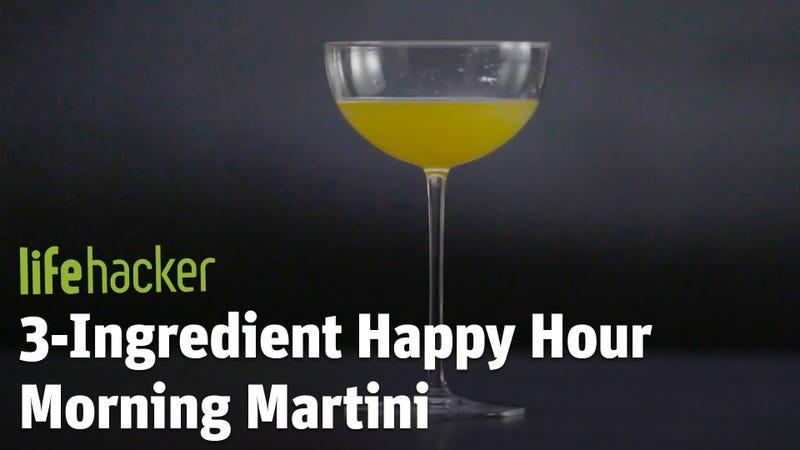 3 ingredient happy hour a morning martini. Black Bedroom Furniture Sets. Home Design Ideas