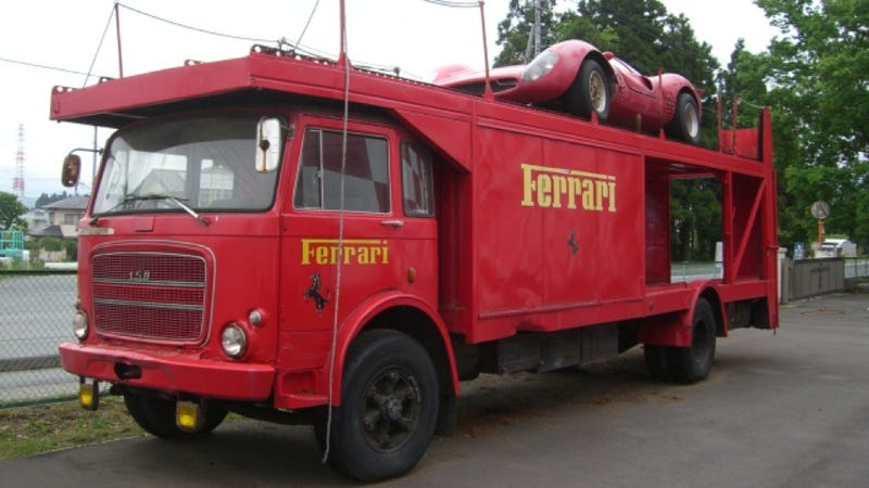Illustration for article titled Ferrari Transporter For Sale, Could Possibly Be Turned Into Party Bus