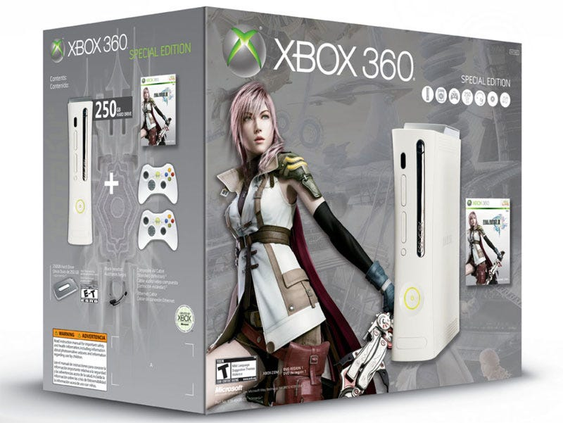 Illustration for article titled Final Fantasy XIII Gets An Xbox 360 Bundle In North America