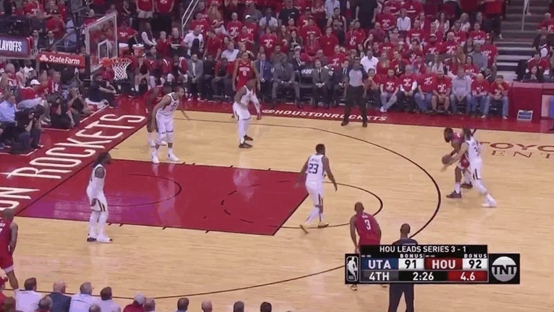 Rockets Survive Utah's Aggressive Butt Defense, Advance