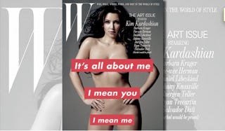 Illustration for article titled Kim Kardashian Should Be Grateful For That W Cover!
