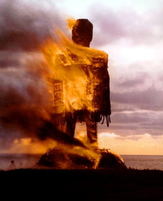 """Illustration for article titled Our More Dreadful Sacrifice: An Appointment With """"The Wicker Man"""""""