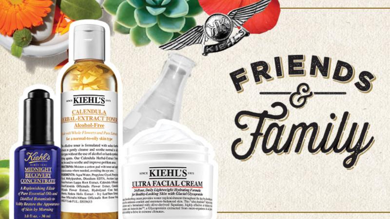 20% Off All Orders | Kiehl's | Promo code FRIENDS