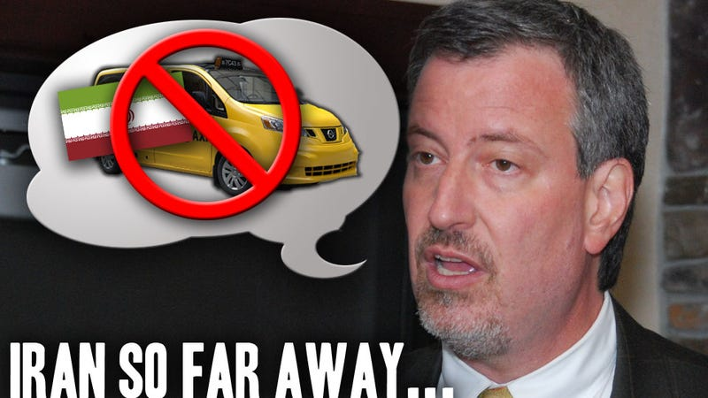 Illustration for article titled Nissan's Iranian New York City Cab Problem