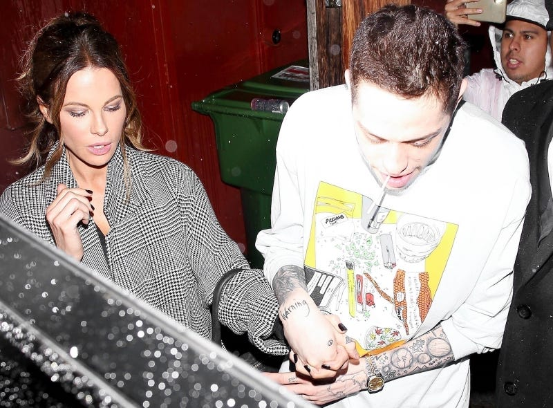 Illustration for article titled Pete Davidson and Kate Beckinsale Held Hands, Which Makes It Official