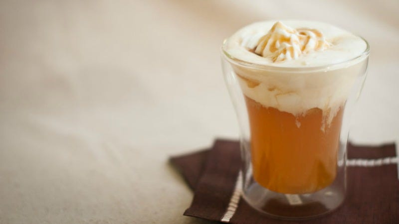 """Illustration for article titled Add Coconut Milk to Hot Cider for an """"Apple Pie in a Glass"""""""