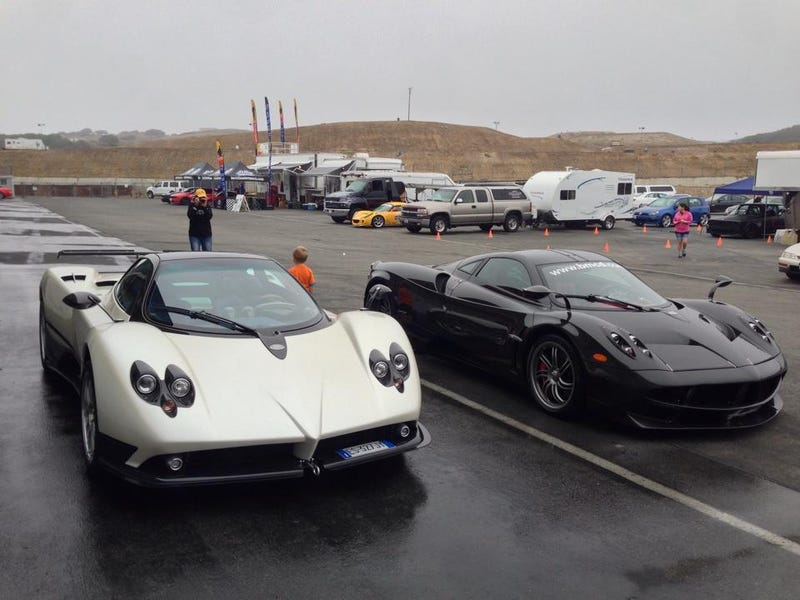 Illustration for article titled So apparently there's a Zonda at my local track