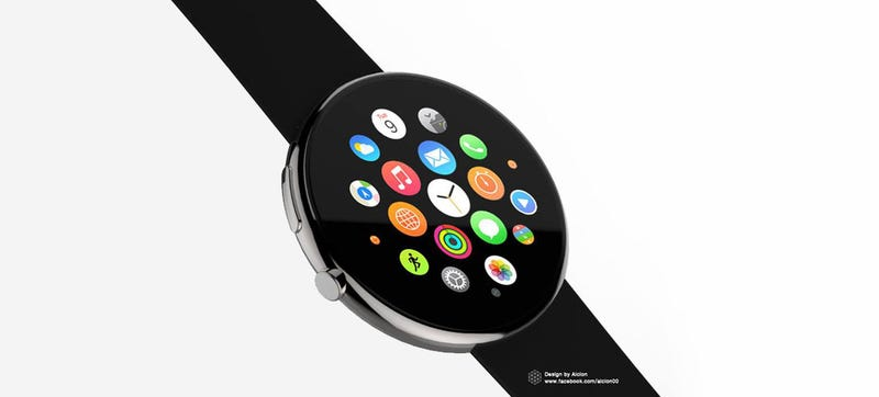 Illustration for article titled This Is What the Apple Watch Would Look Like If It Were Round