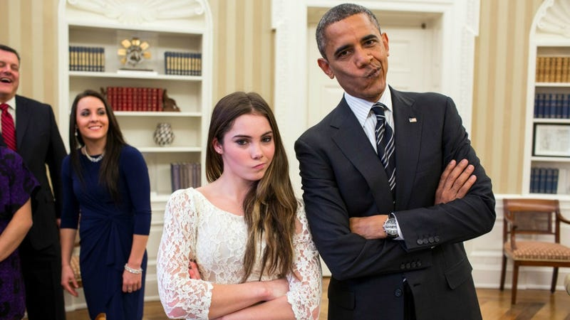 Illustration for article titled POTUS And McKayla Maroney Dare You To Impress Them