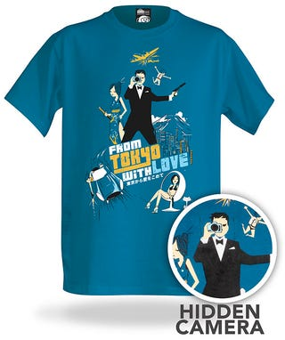 Illustration for article titled ThinkGeek's New Spy Shirt Hides an Actual Working Spy Cam