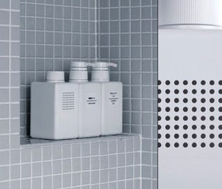 muji stealth shower radio is disguised as a shampoo bottle