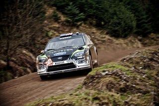 Illustration for article titled Ken Block's Ford Focus WRC Revealed, Muddy