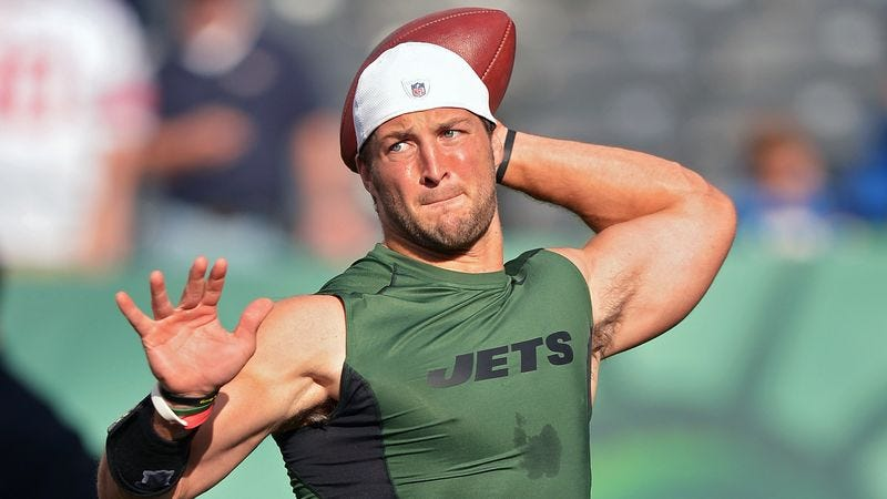 Illustration for article titled Jets Say Tim Tebow May Still Have Prominent Role As Scapegoat