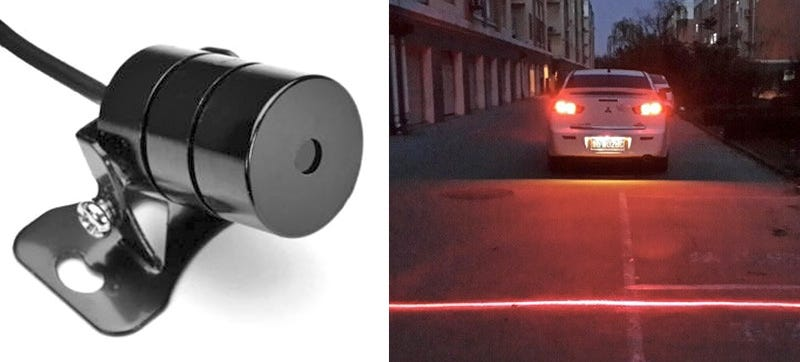 Illustration for article titled A Car Bumper Laser Helps Prevent Rear-End Collisions in Fog