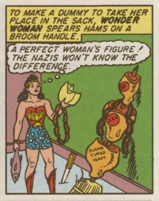 Illustration for article titled This is probably the greatest Wonder Woman panel in comic history
