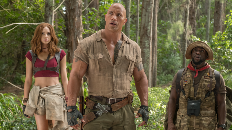 Illustration for article titled Jumanji 2 will open against Star Wars: Episode IX because nobody scares The Rock