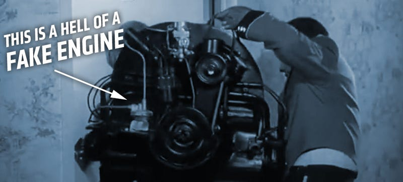 Illustration for article titled Is This The Most Accurate Fake VW Engine In All Of Movies?