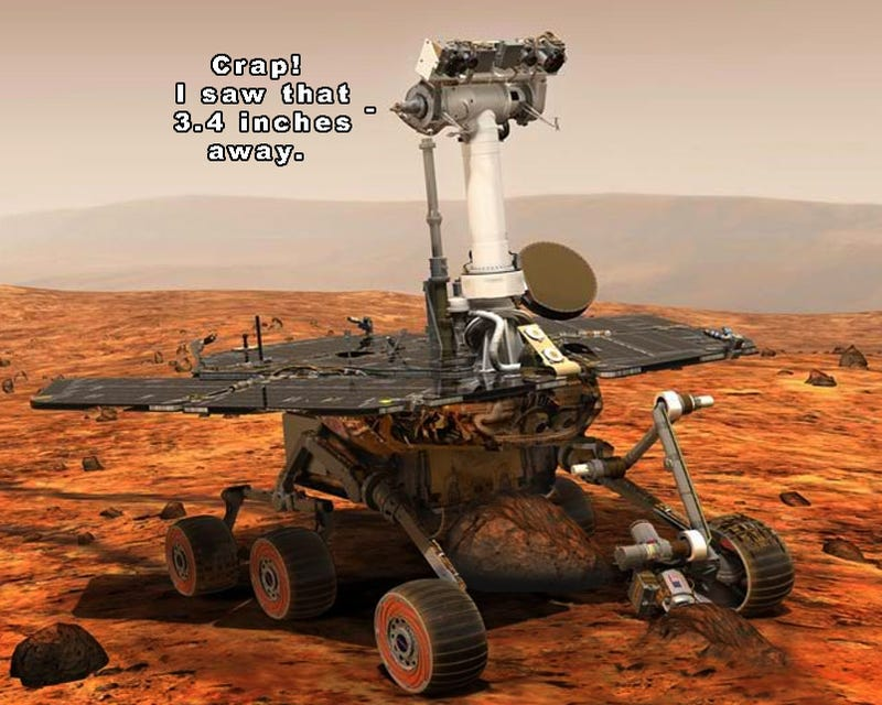 Illustration for article titled NASA's Spirit Mars Rover Is In A Bit Of A Bind