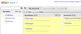 """Illustration for article titled Zoho Start Page is Your Web-based """"My Documents"""" Folder"""