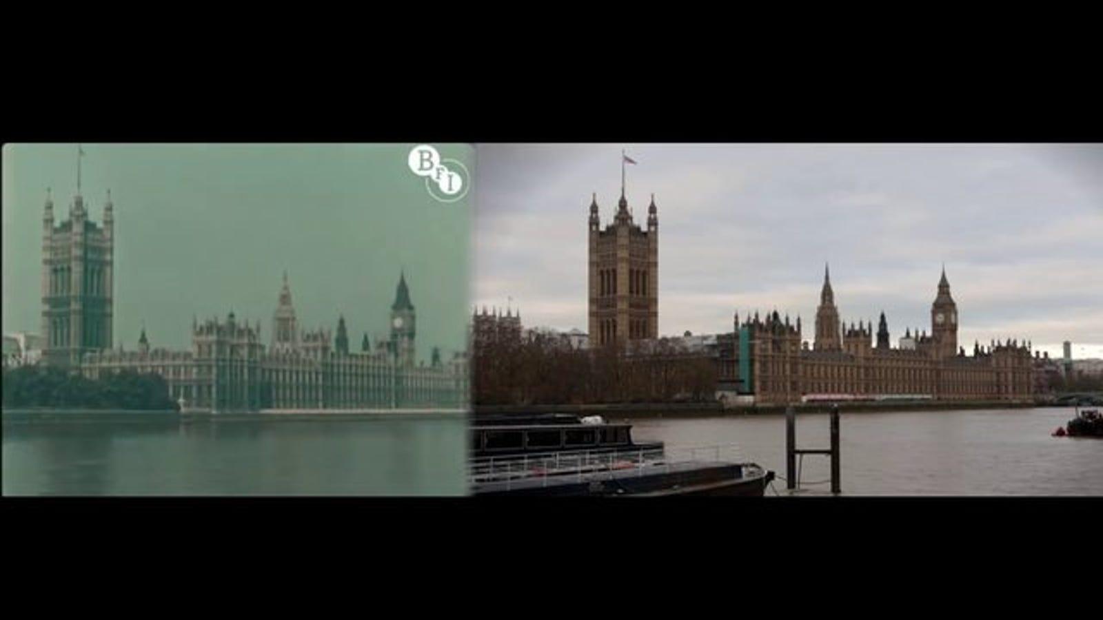 1927 - 2013: el mismo paseo por Londres 86 años después