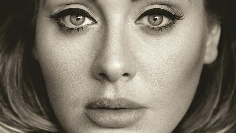 Adele, as pictured on her new album cover