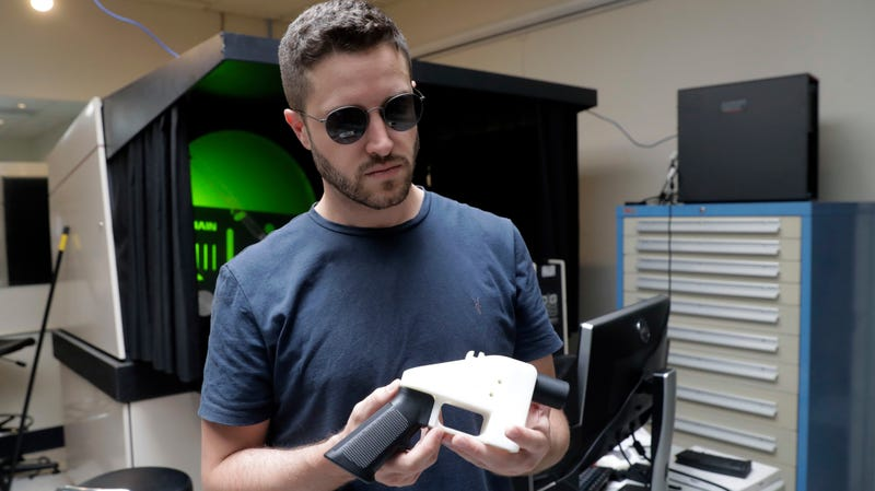 Cody Wilson of Defense Distributed at his workshop in Austin, Texas, in August 2018.