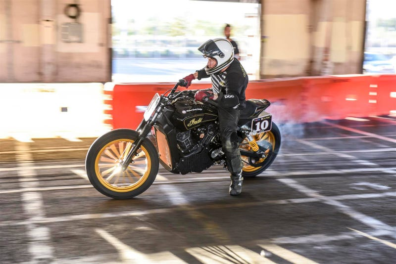 Illustration for article titled Indian's New Scout Sixty Is About To Go Flat Track Racing