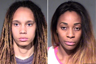 Brittney Griner and her fiancee, Glory Johnson, were arrested on suspicion of assault and disorderly conduct April 22, 2015, after police were called to the Phoenix-area home they share and reportedly found both women bloody.    Maricopa County Sheriff's Office