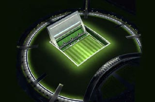 """Illustration for article titled Doha's """"Wall"""": The World's First Underground Stadium"""