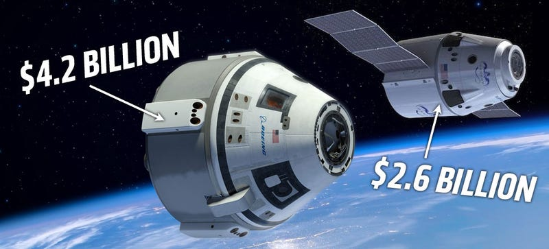 Illustration for article titled NASA Will Fund Both Boeing and SpaceX To Build US Manned Spaceships