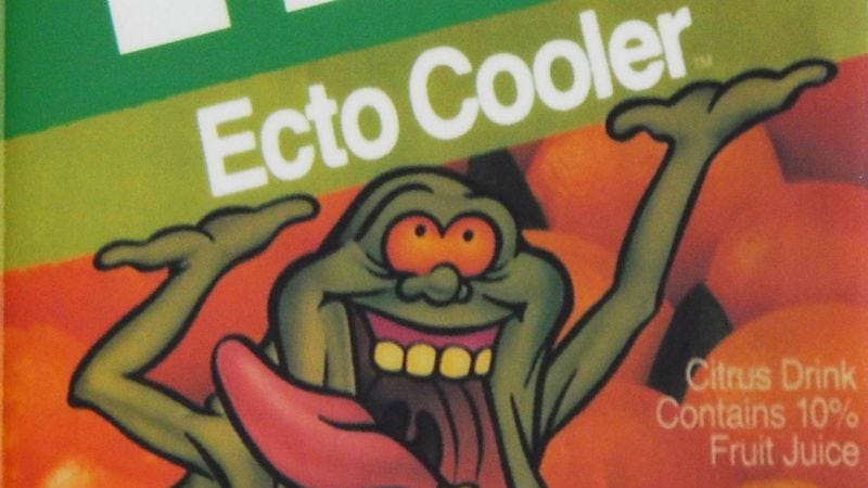 Illustration for article titled Slimer's back! In juice form: 7 pop-culture tie-ins that outlived their inspirations