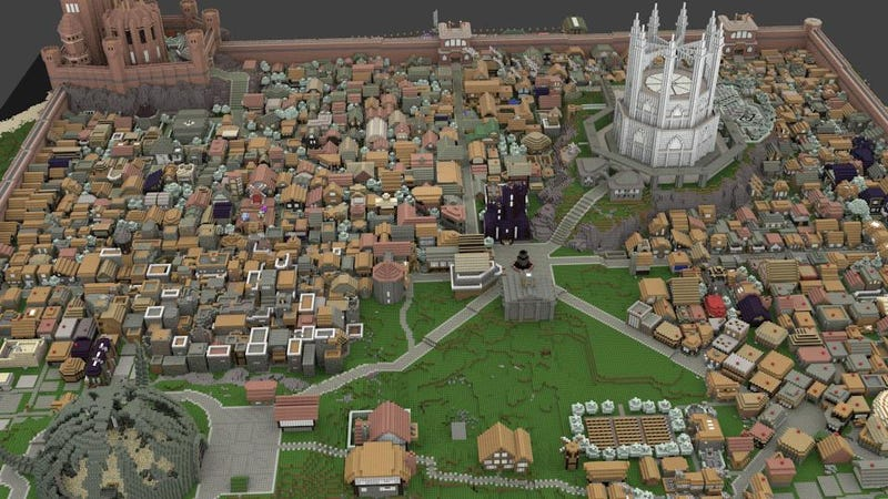 Illustration for article titled These Guys Are Building All Of Game of Thrones In Minecraft