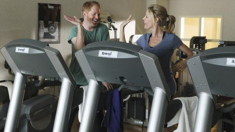 """Illustration for article titled Modern Family: """"Strangers on a Treadmill"""""""
