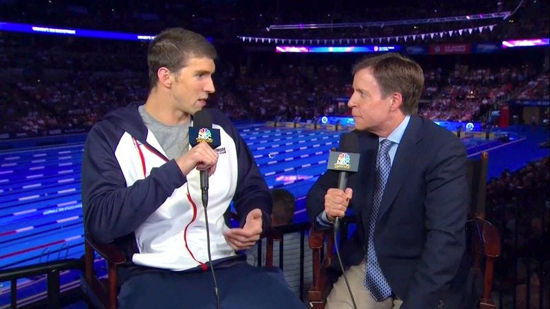 Illustration for article titled Michael Phelps Asks Bob Costas If He Wins Or Loses Tonight