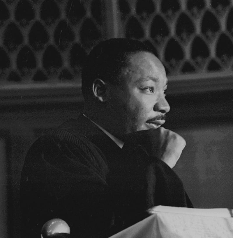 Martin Luther King Jr. speaking at Quinn Chapel on the South Side of Chicago, 1960sRobert Abbott Sengstacke/Getty Image00s