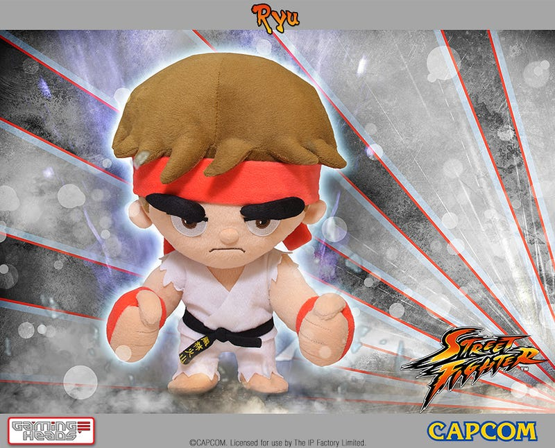 Illustration for article titled Poseable Street Fighter Plushies Have Some Epic Eyebrows