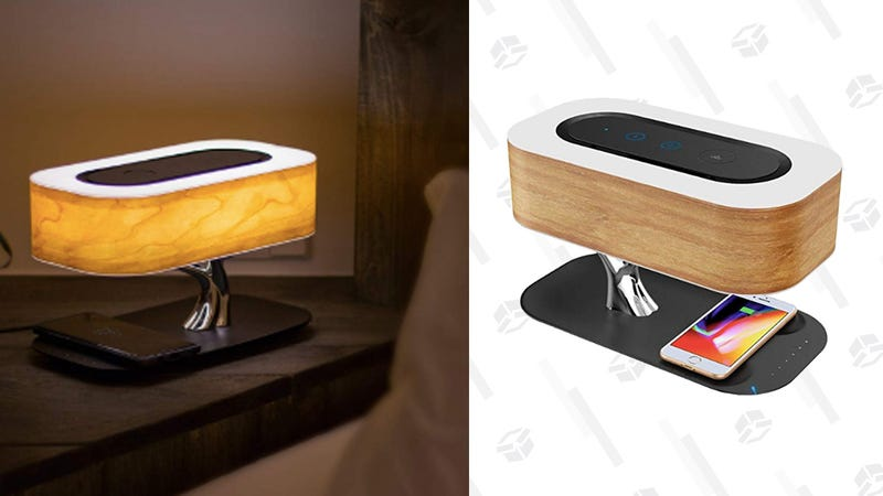 Get $20 Off a Dimming Beside Lamp With a Bluetooth Speaker and Wireless Charger