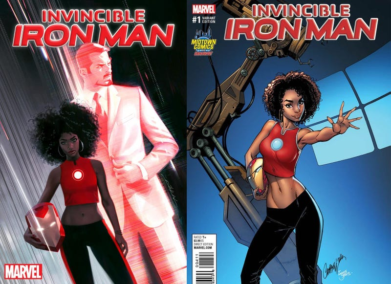 Controversial variant covers of Invincible Iron Man comicMarvel