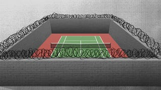 Illustration for article titled Chained Wimbledon: The Joys And Perils Of Prison Tennis