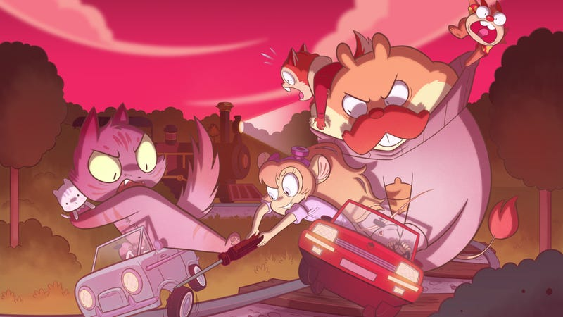 Chip 'n Dale, along with their Rescue Rangers, try to thwart a tiny car getaway.