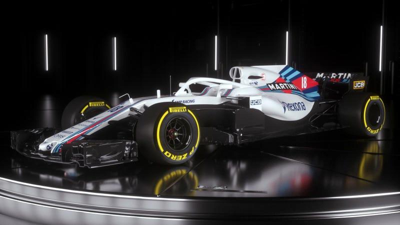 Das neue Williams-Formel-1-Auto sollte Martini Liveried The
