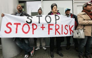 New Yorkers demonstrate against stop and frisk. (Mario Tama/Getty Images)