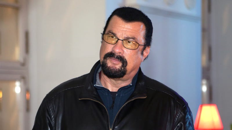 Illustration for article titled Steven Seagal insufficiently tough enough to sit and listen to the sexual assault allegations against him