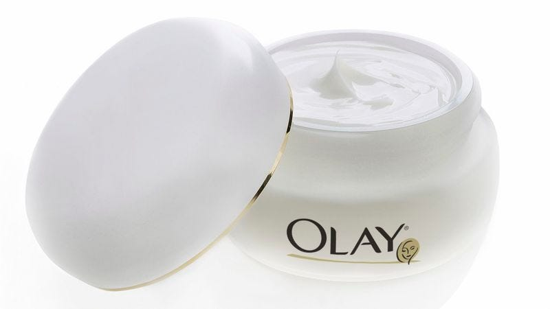 """According to Olay representatives, the new skin cream """"definitely does a bunch of the skin things that people like."""""""